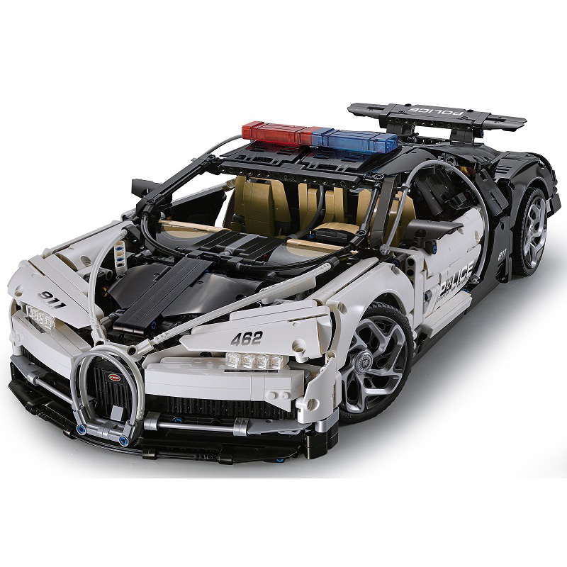 MOC Technic Car Chiron Compatible 42083 Police Toy Car DIY Building Blocks Engineering Toys For Boys Adult Gift