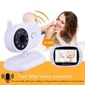 M-care monitor video do bebê de 3.5 polegadas com tela sem fio do lcd da câmera visão noturna infravermelha monitor sem fio do bebê de digitas