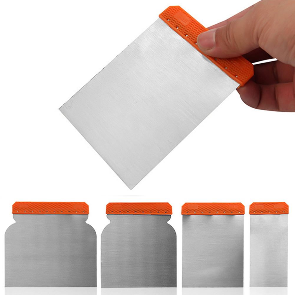4Pcs Body Filler Spreaders Cleaning Applicator Durable Putty Portable Tools Sheet Carbon Steel Scraper Set Paint Repair