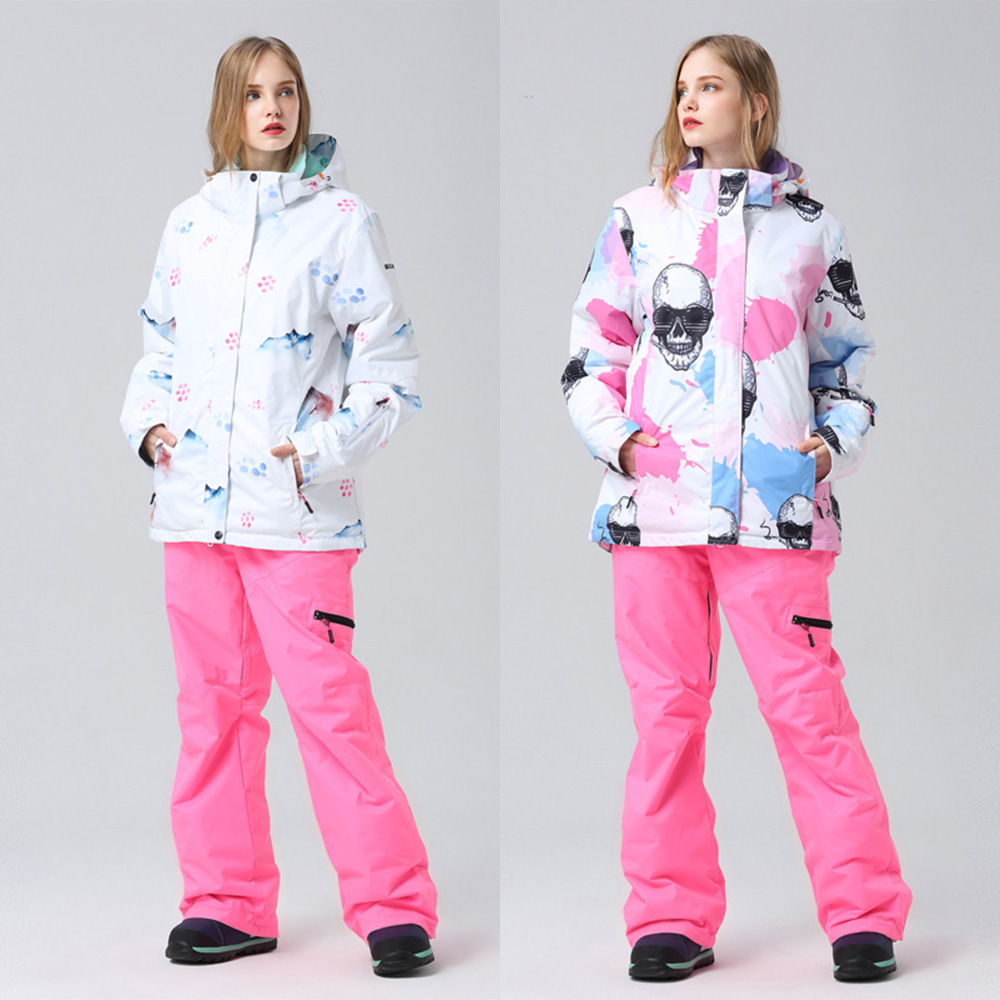 Winter Thick Warm Ski Suit Women High Quality Ski Jacket +Pants Snow Waterproof Windproof Skiing Snowboarding Female Ski Sets