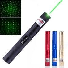 Hunting 532nm 5mw Green Laser Sight laser 303 pointer High Powerful device Adjustable Focus Lazer laser pen Head Burning Match цена 2017