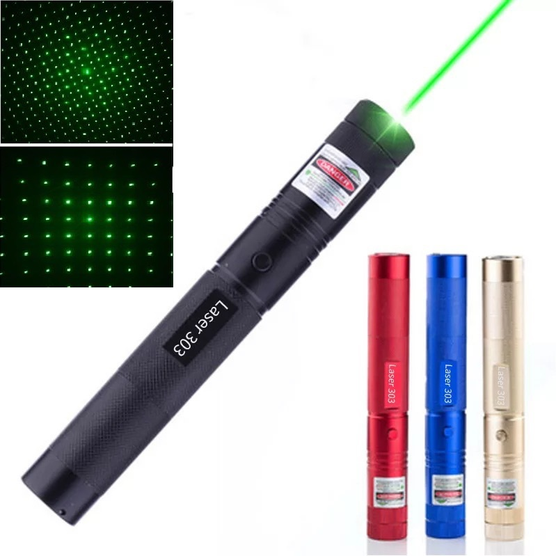 Hunting 532nm 5mw Green Laser Sight laser 303 pointer High Powerful device Adjustable Focus Lazer laser pen Head Burning Match