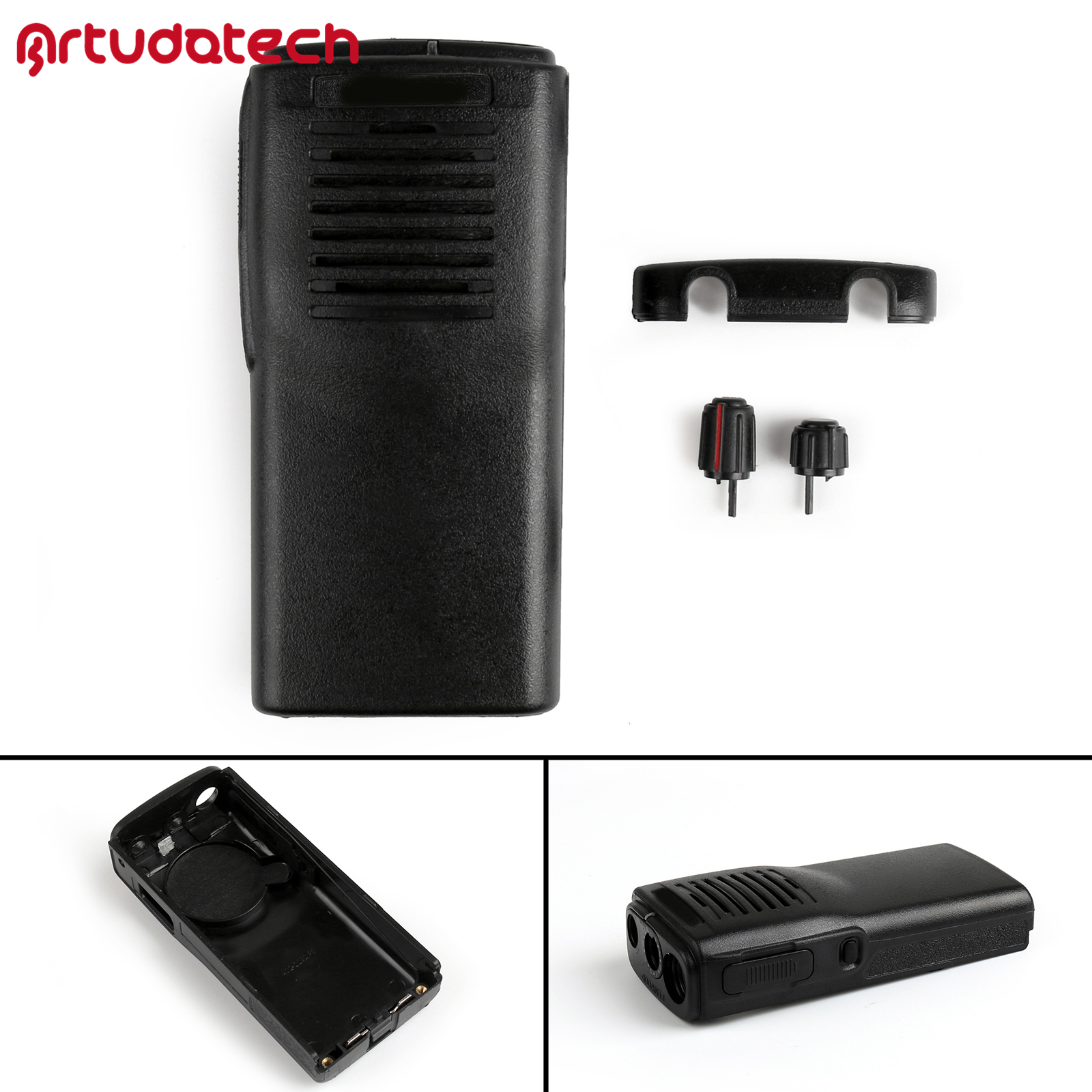 Artudatech Front Outer Case Housing Cover Shell For Kenwood TK3107 TK2107 <font><b>TK</b></font> <font><b>3107</b></font> 2107 Talkie Radio <font><b>Tk</b></font>-<font><b>3107</b></font> image
