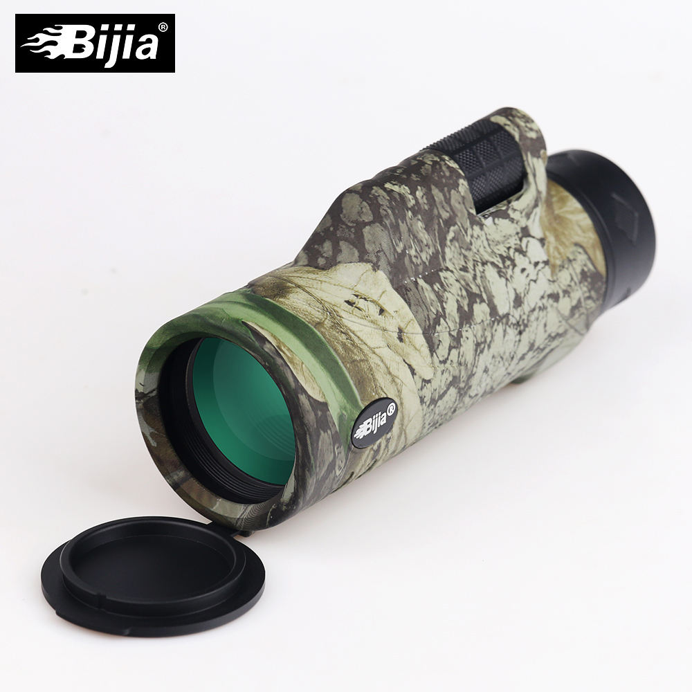 Tools : BIJIA 10x42 High Quality 4 colors Multi-coated BAK4 Prism monocular Hunting Bird Watching travel telescope support Drop Shipping