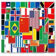 50 100 PCS Paesi Bandiera Nazionale Adesivo Giocattoli per I Bambini di Calcio di gioco del Calcio di Ventole Decalcomania Scrapbooking custodia Da Viaggio Autoadesivi Del Computer Portatile