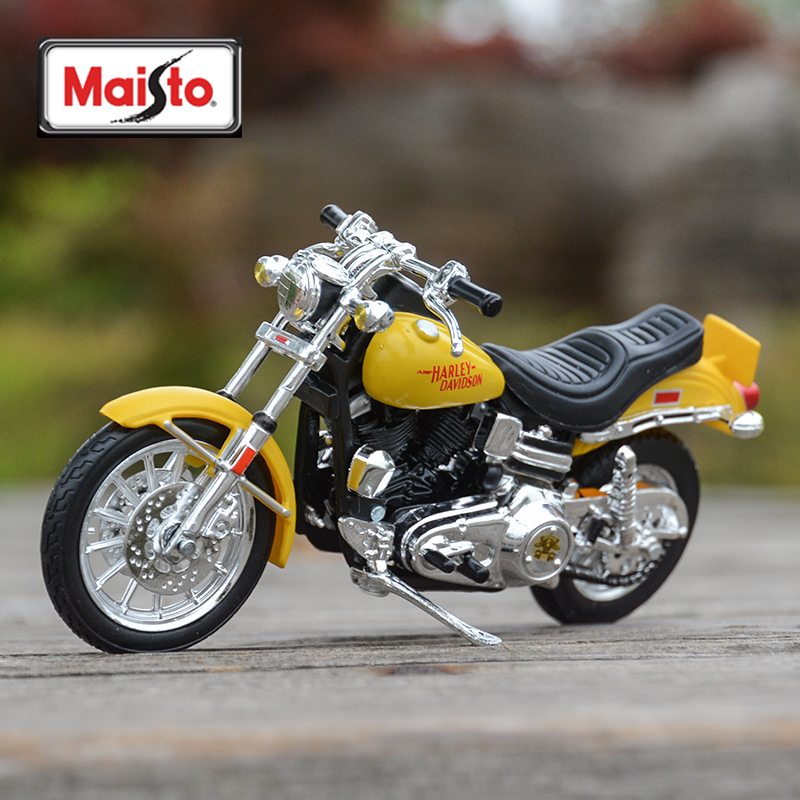Maisto 1:18 1977 FXS Low Rider Diecast Alloy Motorcycle Model Toy