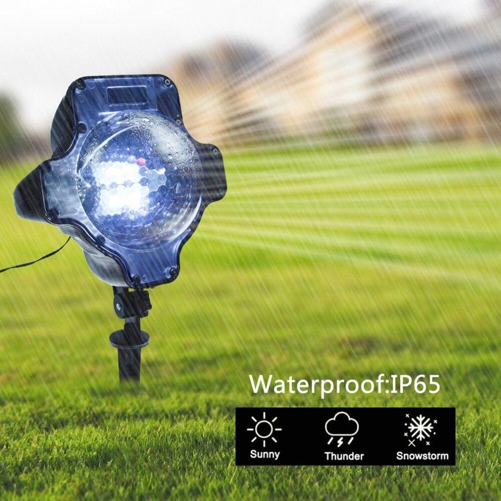 Kürbis Form LED Schneefall Licht RF Fernbedienung Schneefall Projektor Licht Schneien Licht LED Landschaft Weihnachten Bühne Licht