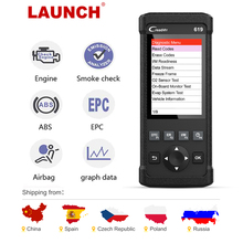 Launch CR619 OBD2 Scanner Engine Abs Srs Odb 2 Scan Tool Launch Obdii Code Reader Multi-Taal Auto Diagnostische tool Gratis Update