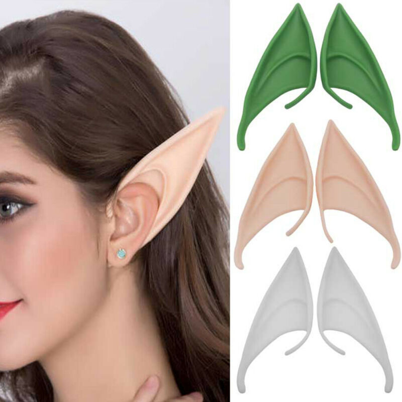 Adult Latex Elf Pixie Ears Fairy Alien Christmas Fancy Dress Cosplay Party Prop