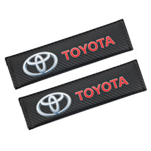 Car Seat Belt Cover Padding Auto Seat Belt Strap Protector Cover Pads for toyota camry chr corolla rav4 yaris prius Accessories(China)