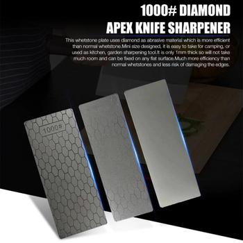 Knife Sharpener Professional 400 1000 Thin Diamond Sharpening Stone Knives Diamond Plate Whetstone Knife Sharpener Grinder image