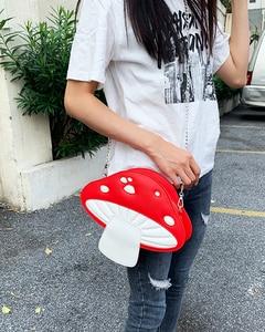 Image 3 - น่ารักเห็ดสีแดงPuหนังแฟชั่นผู้หญิงกระเป๋าถือไหล่Crossbodyกระเป๋าผู้หญิงคลัทช์กระเป๋าToteกระเป๋า