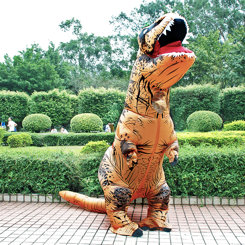 Hot T REX Dinosaur Inflatable Costume Party Cosplay Costumes Fancy Mascot Anime Halloween Costume For Adult Kids Dino Cartoon 6