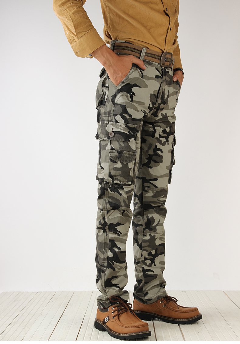 KSTUN Cotton Cargo Pants Men Tactical Military Overalls Camouflage Pants Casual Pants Man Trousers
