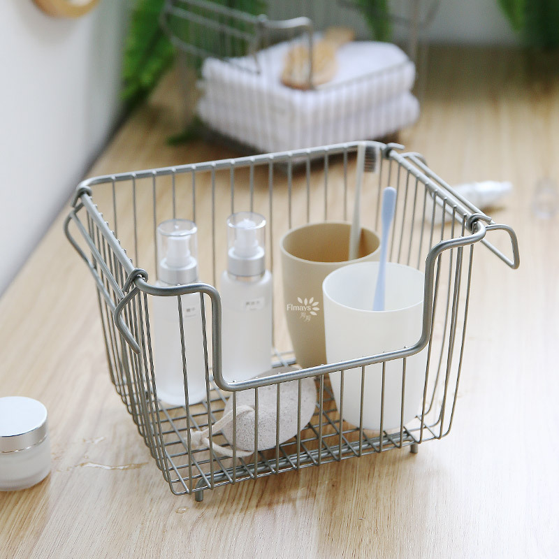 Fer Art Rack de rangement boîte de rangement panier étagère de rangement cuisine organiser Double couche étagère de rangement échouer Rack ménage dortoir - 3