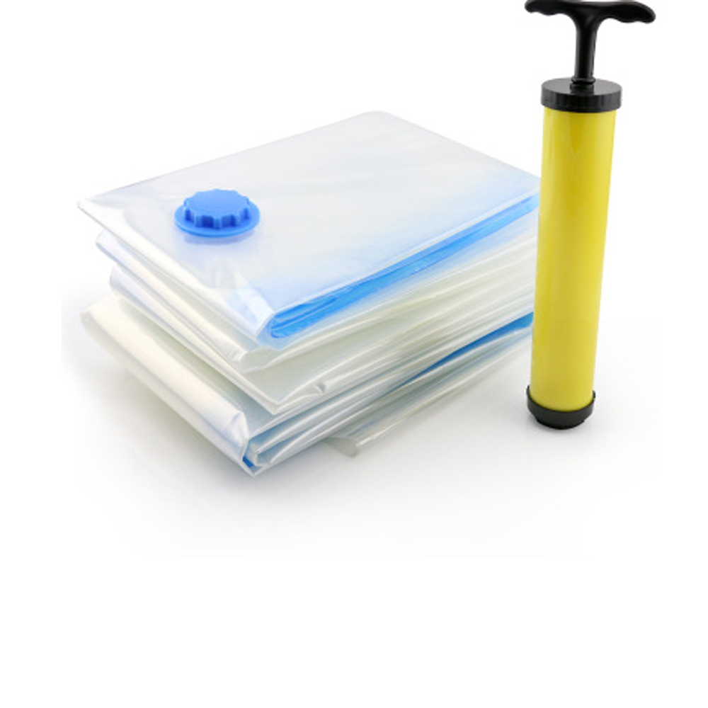Vacuum Storage Bag Transparent Organizer Space Saving Bags