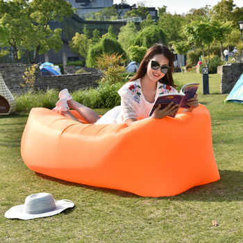 Outdoor Camping Inflatable Sofa Portable Ultralight Beach Sleeping Bag Air Bed Inflatable Chair Recliner Lazy Bag Beach Sofa - DISCOUNT ITEM  35 OFF Furniture