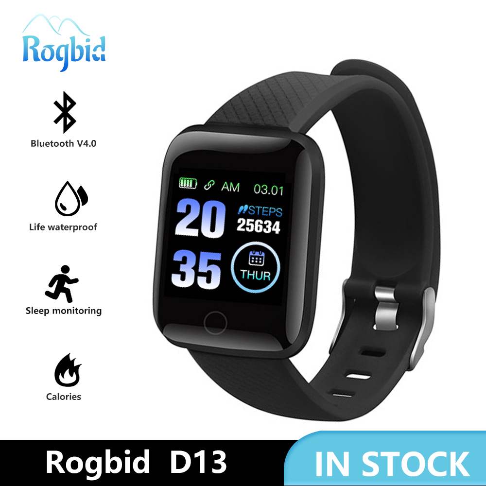 Smart Watch Heart Rate Smart Wristband Sports Watches Smart men women Waterproof Smartwatch for Android iOS Rogbid D13 116 plus