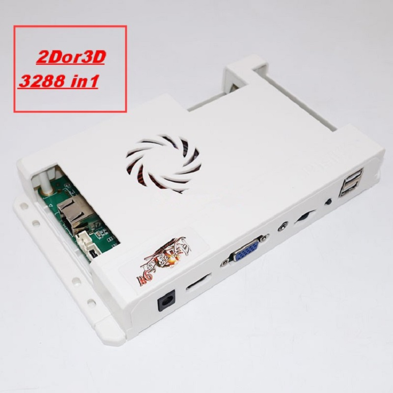 2019 new model online download support 2D 3D game/3288 in 1 with 51 pces 3d pcb games hdmi vga machine board image