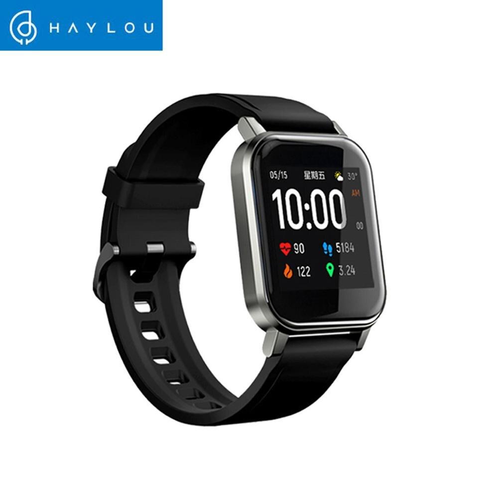 Haylou LS02 Smart Watch Sport круглый металлический чехол монитор сердечного ритма во время сна IP68 Водонепроницаемый iOS Android глобальная версия-2