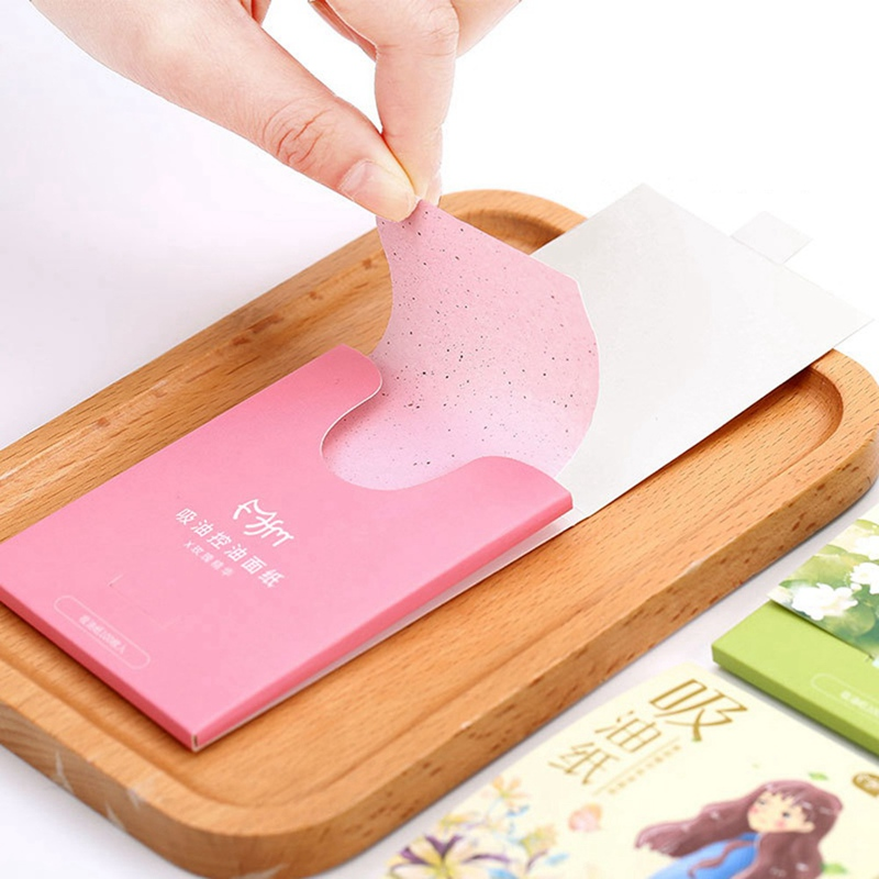 100pcs/Box Oil Blotting Sheets Absorbing Paper Face Oil Control Makeup Tools Cleansing Face Oil Absorbing Sheets