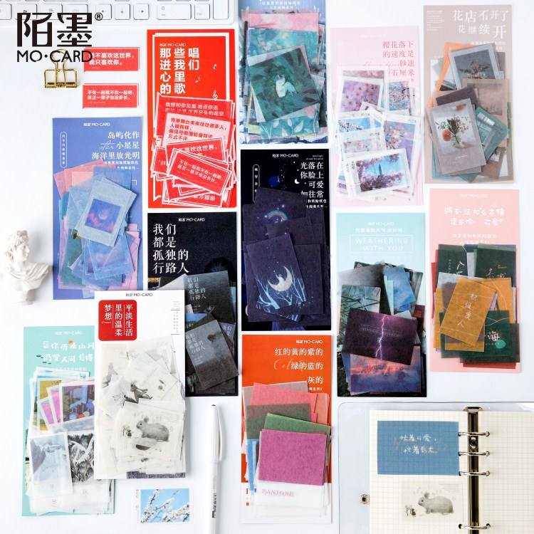 40pcs/1lot Kawaii Stationery Stickers Sea Of Life Diary Planner Decorative Mobile Stickers Scrapbooking DIY Craft Stickers
