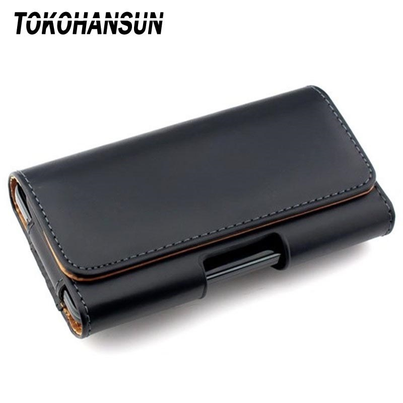 TOKOHANSUN Phone Case Pouch For Prestigio Grace R5 P7 LTE PSP7570DUO <font><b>PSP5552DUO</b></font> Belt Clip Holster PU Leather Case Cover image
