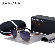BARCUR High Quality TR90 Sunglasses Polarized Men's Sun glasses Women Pilot UV400 Mirror Oculos de sol