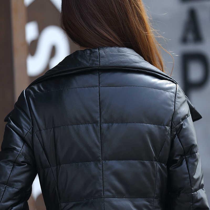 Echt Lederen Jas Herfst Winter Jas Vrouwen Kleding 2020 Koreaanse Vintage Schapenvacht Dwon Jas Lange Vrouwen Tops ZT3416