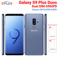 Brand New Original Global Samsung Galaxy S9 Plus S9+ Duos G965FD Dual SIM Mobile Phone 6.2 6GB 64GB 12MP 4G LTE NFC SmartPhone