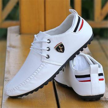 2021 męskie buty białe czarne oddychające marki jazdy jesień męskie płaskie męskie buty Peas brytyjscy mężczyźni Sneakers buty dla mężczyzn tanie i dobre opinie HDKSFHKE Mokasyny IT (pochodzenie) Na wiosnę jesień Sztuczna skóra Sznurowane Dobrze pasuje do rozmiaru wybierz swój normalny rozmiar