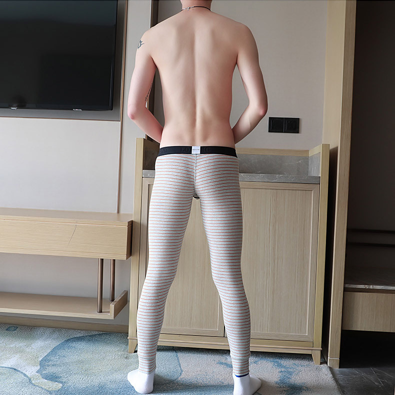 Men Long Cotton Basic Leggings Thermal Underwear Homme Cueca Trunks Gay Men Thermo Long Underpants