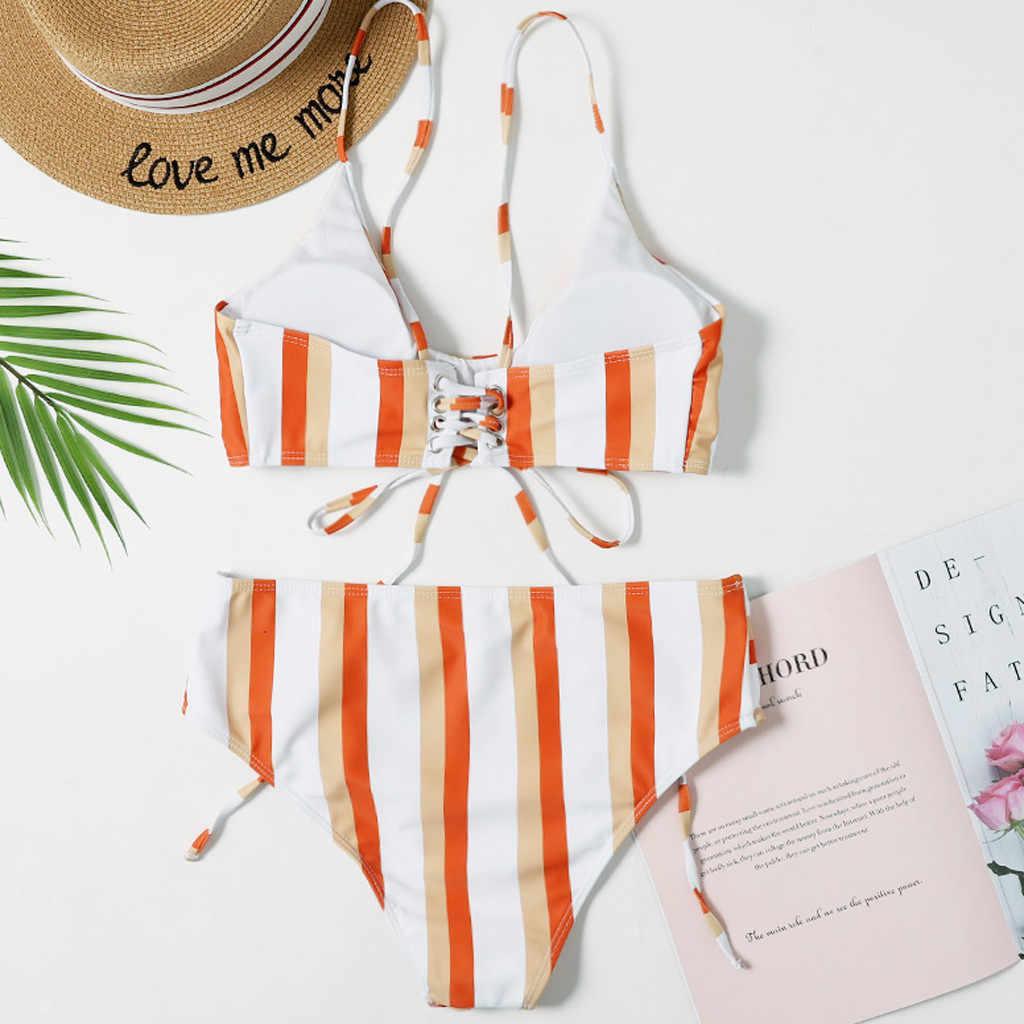 KANCOOLD strój kąpielowy kobiet kostium kąpielowy monokini wypełnione Push Up zestawy bikini basen morze codzienne stroje kąpielowe kobiety 2020JAN28