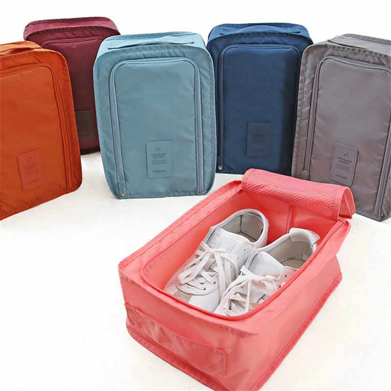 SUEF 1PCS Convenient Travel Storage Bag Nylon Portable Organizer Bags Shoe Sorting @5