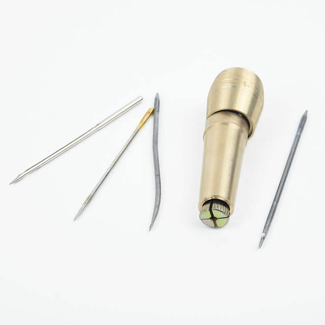 Canvas Leather Tent Sewing Awl Hand Stitcher DIY Craft Needles Repair Tool Kit