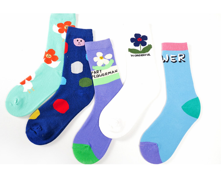 Black/&white-lattice Unisex Funny Casual Crew Socks Athletic Socks For Boys Girls Kids Teenagers