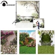 Фон для свадебной фотосъемки Allenjoy 300x200 см (футов x 10 футов) с цветами деревьями садом лофтом