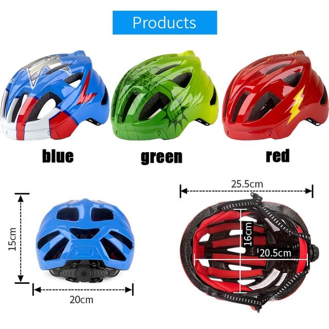 Batfox novo capacete de segurança das crianças ciclismo patinação capacete ultraleve protetor capacete da bicicleta esportes ao ar livre engrenagem protetora 3