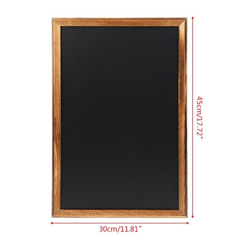 Rectangle Hanging Wooden Message Blackboard Chalkboard Wordpad Sign Kids Board For Restaurant, Bar, Office, home 6