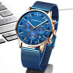 Image 3 - นาฬิกาผู้ชายRelogio Masculino CRRJUสุดหรูยี่ห้อธุรกิจเหล็กนาฬิกาควอตซ์Casualนาฬิกาข้อมือชายกันน้ำChronograph