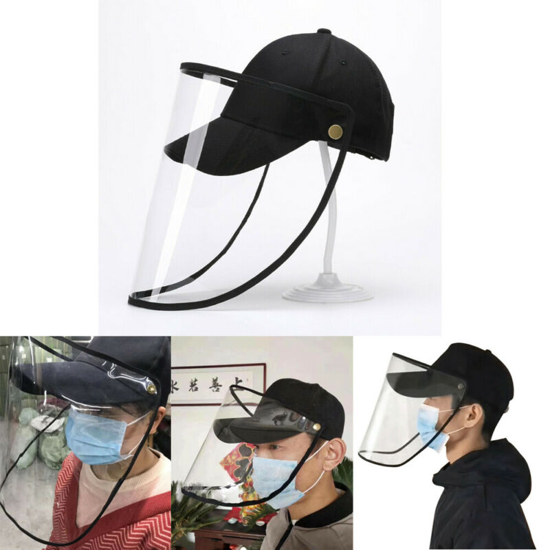 Anti-Virus Safety Hat Anti Fog Dust Splash-proof Hat Work Face Protection Cap Kids Adults Adjustable Baseball Cap