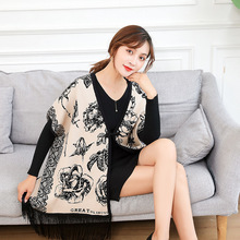 LS2031 Fashion Lady Long Wrap Soft Chiffon Shawls and Scarves Women's Shawl Prin