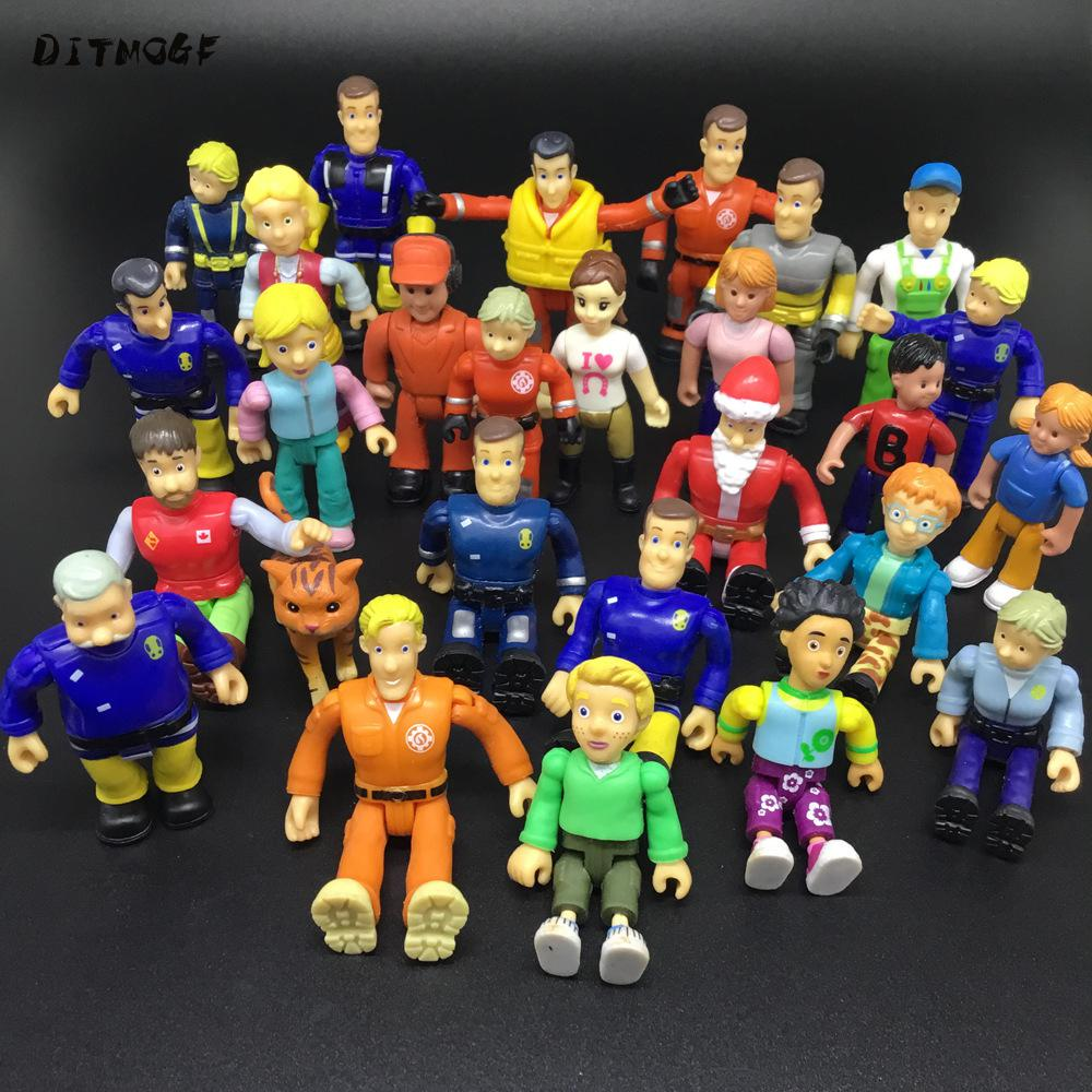 10pcs Joint Movable Fireman Sam Action PVC Toys For Kids B731