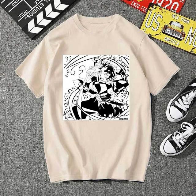 Фото kimetsu no yaiba kamado tanjiro из футболки мужские kawaii топы цена