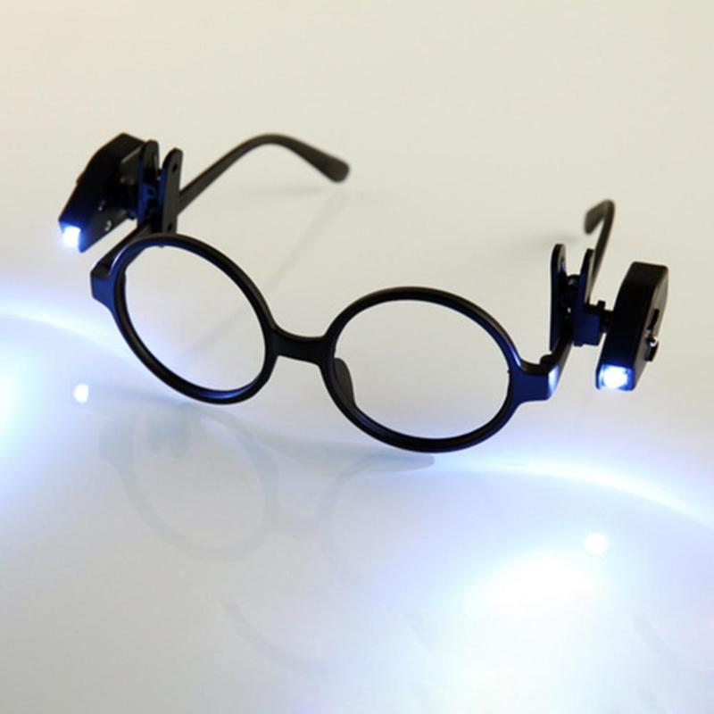 Mini Reading Light Glasses Reading Lamp Eyeglass Clip Lantern Adjustable Universal Eyeglasses Lamp Flexible Book Reading Lights