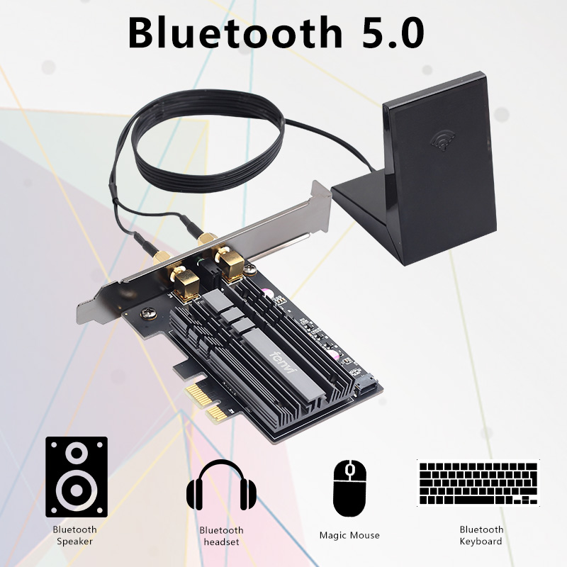 cheapest Dual Band 2400Mbps Wireless PCI-E Wi-fi Adapter WiFi 6 Intel AX200 Bluetooth 5 0 802 11ax 2 4G 5G AX200NGW Card For Desktop PC