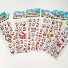 6 pçs japão anime hallo kitty adesivos vara skate portátil motocicleta bagagem capacete legal trolley crianças dos desenhos animados adesivo