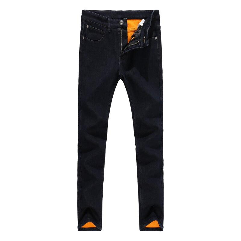 New Winter 2019 Men's Fashion Boutique Pure Color Fleece Warm Slim Leisure Retro Jeans / Male Cotton Corduroy Casual Trousers