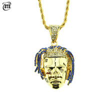 Fashion Rapper XXXTentacion Pendant Hip Hop Necklace Men Iced Out CZ Charms Chains Punk Gold Silver Personalized Jewelry Gifts 5pcs lot new laptop socket dc power jack cable for sony vgn cr pj107 dc connector
