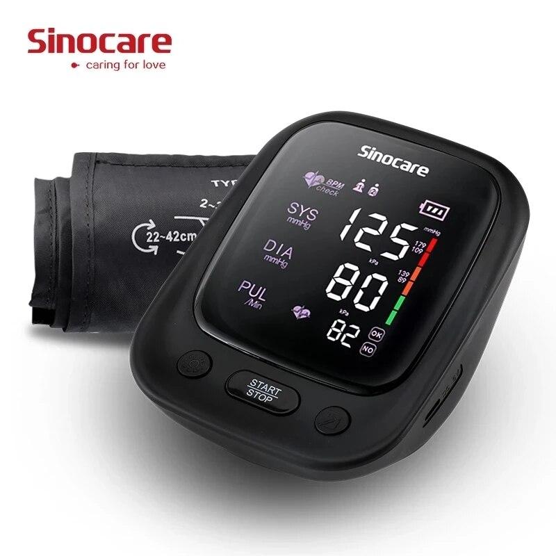 Sinocare портативный монитор артериального давления, автоматический плечевой СВЕТОДИОДНЫЙ монитор, Сфигмоманометры, пульсометр